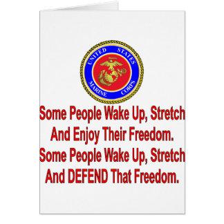 Alguna gente del USMC defiende esa libertad Tarjeta