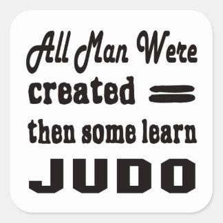 Algunos aprenden judo pegatina cuadrada
