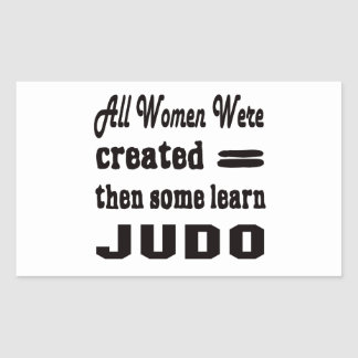 Algunos aprenden judo pegatina rectangular