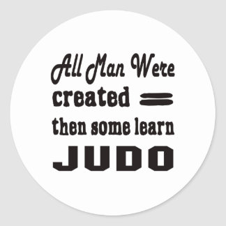 Algunos aprenden judo pegatina redonda