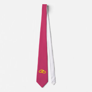 Alianzas de boda corbata personalizada