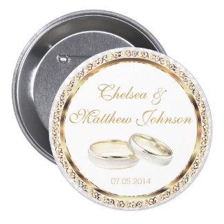 Alianzas de boda de novia y del novio chapa redonda de 7 cm
