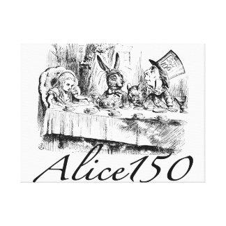 Alice150 Alicia en el 150o aniversario del país de Impresión En Lienzo