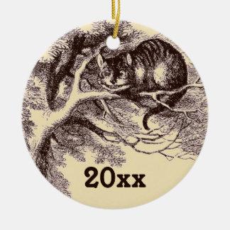 Alicia de encargo en mueca del gato de Cheshire de Ornamentos De Reyes Magos