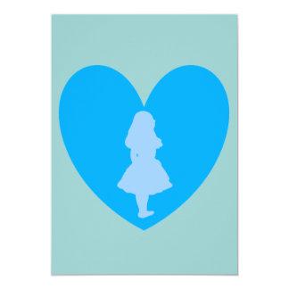 Alicia en amor del país de las maravillas en invitación 12,7 x 17,8 cm