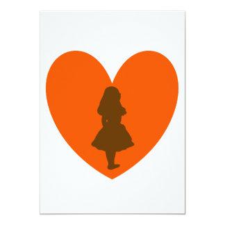 Alicia en amor del país de las maravillas invitación 12,7 x 17,8 cm