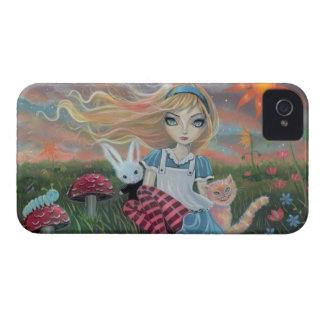 Alicia en arte de la fantasía del cuento de hadas Case-Mate iPhone 4 protector