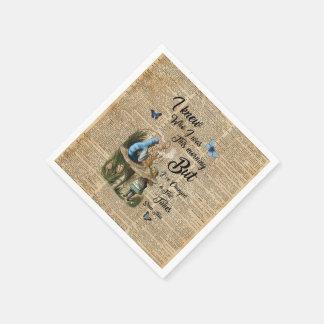 Alicia en arte del diccionario del vintage de la servilletas de papel