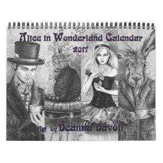Alicia en cuento de hadas del calendario del país