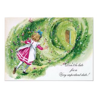 Alicia en cumpleaños del país de las maravillas no invitación 12,7 x 17,8 cm