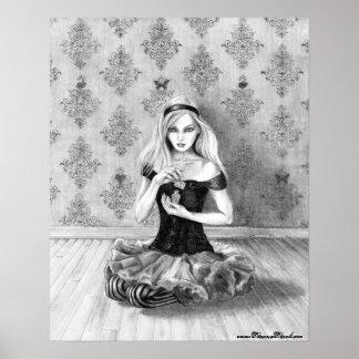 Alicia en el arte de Alicia del poster del país de