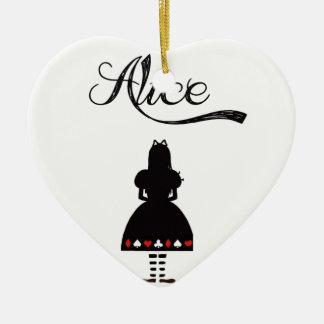Alicia en el país de las maravillas ornamento de navidad