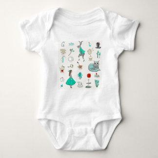 Alicia en el país de las maravillas body para bebé