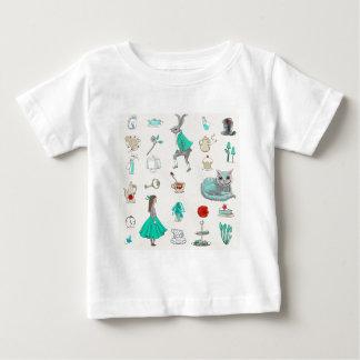 Alicia en el país de las maravillas camiseta de bebé