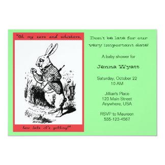 Alicia en el país de las maravillas - conejo invitación 12,7 x 17,8 cm
