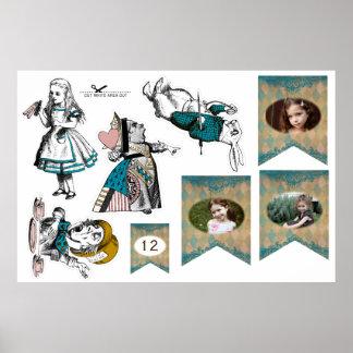 Alicia en el país de las maravillas - decoración póster