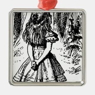 Alicia en el país de las maravillas - ejemplo orig ornamento de navidad
