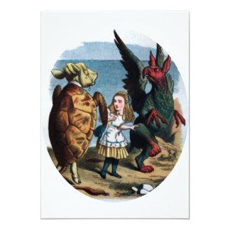 Alicia en el país de las maravillas invitación 12,7 x 17,8 cm