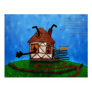Alicia en el país de las maravillas - la casa del  tarjeta postal