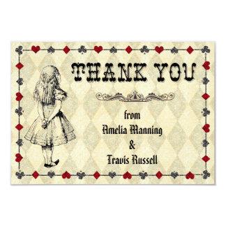 Alicia en el país de las maravillas le agradece invitación 8,9 x 12,7 cm