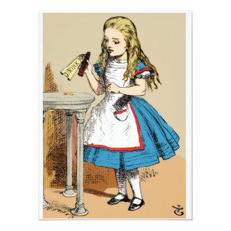Alicia en el país de las maravillas me bebe invitación 13,9 x 19,0 cm