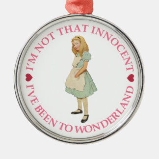 Alicia en el país de las maravillas - no soy ese I Ornamento Para Arbol De Navidad