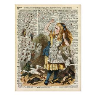 Alicia en el país de las maravillas postal