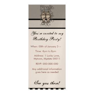 Alicia en el país de las maravillas Tweedledum y e Invitación Personalizada