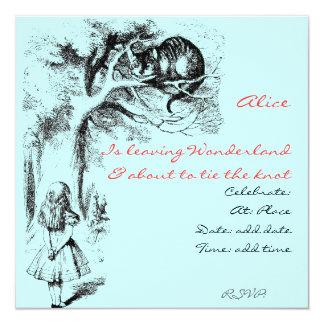 Alicia en el país de las maravillas y el gato de invitaciones personales