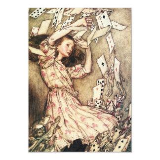 Alicia en el vuelo del país de las maravillas invitación 12,7 x 17,8 cm