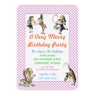 Alicia en fiesta de cumpleaños de la invitación