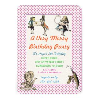 Alicia en fiesta de cumpleaños de la invitación de