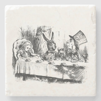 Alicia en fiesta del té del país de las maravillas posavasos de piedra