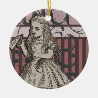 Alicia en Grunge del país de las maravillas Ornaments Para Arbol De Navidad