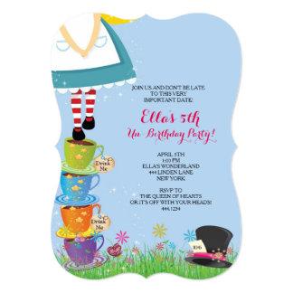 Alicia en invitaciones de la fiesta de cumpleaños invitación 12,7 x 17,8 cm
