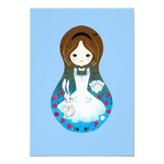 Alicia en invitaciones del país de las maravillas invitación 8,9 x 12,7 cm