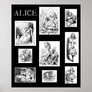 Alicia en la impresión del poster del arte de John