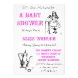 Alicia en la invitación de la ducha del país de la