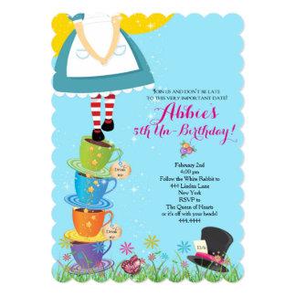 Alicia en la invitación del cumpleaños del país de invitación 12,7 x 17,8 cm