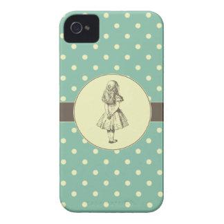 Alicia en lunares del país de las maravillas Case-Mate iPhone 4 cárcasas