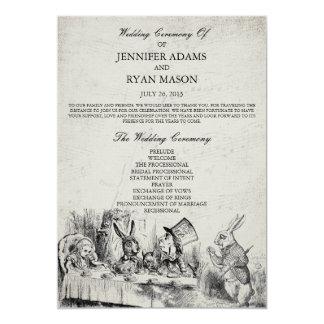 Alicia en programa del boda del país de las invitación 12,7 x 17,8 cm