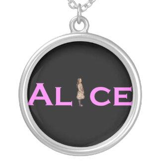 Alicia en rosa colgante redondo