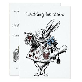 Alicia en tarjeta de la invitación del boda del