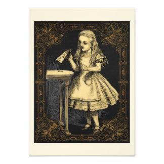 Alicia en tarjeta de la invitación del fiesta del