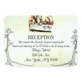 Alicia en tarjeta de la recepción nupcial del país invitación 8,9 x 12,7 cm