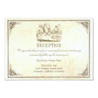 Alicia en tarjetas de la recepción nupcial del invitación 8,9 x 12,7 cm