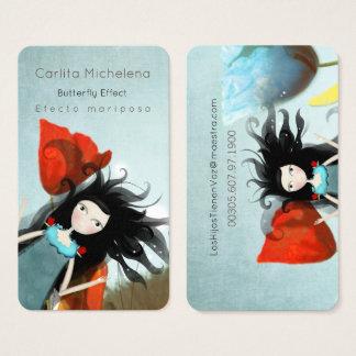 Alicia en tarjetas de visita del país de las