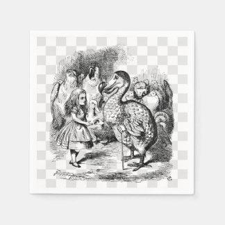 Alicia y el Dodo Servilleta De Papel
