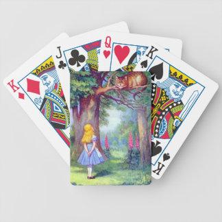 Alicia y el gato de Cheshire a todo color Baraja Cartas De Poker