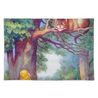 Alicia y el gato de Cheshire a todo color Manteles